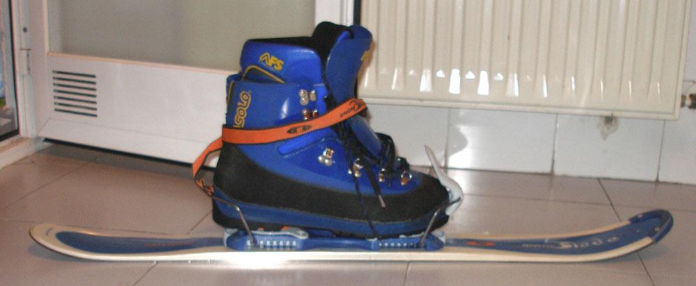 Experimento: Snowblade con botas de montaña