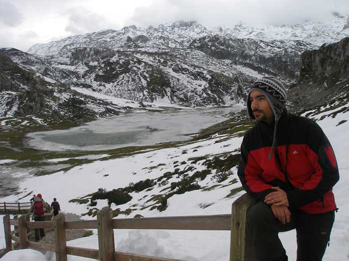 Lago Ercina congelado