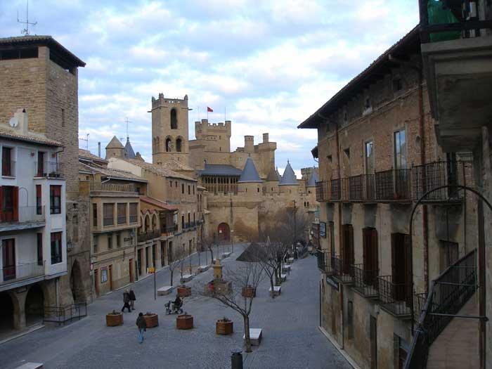 Castillo de Olite desde la habitación del Hotel
