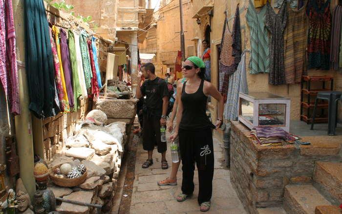 Callejuelas dentro del fuerte de Jaisalmer