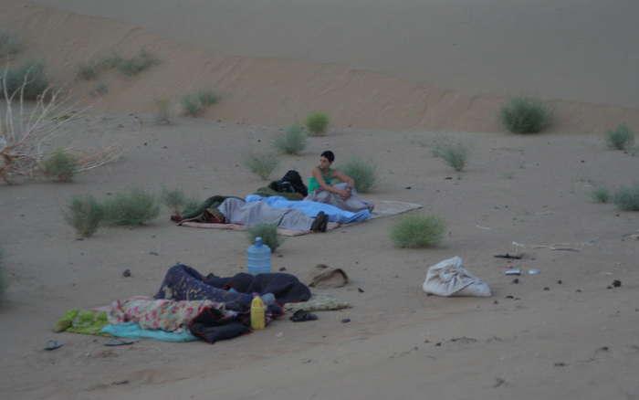 Despertando en el desierto