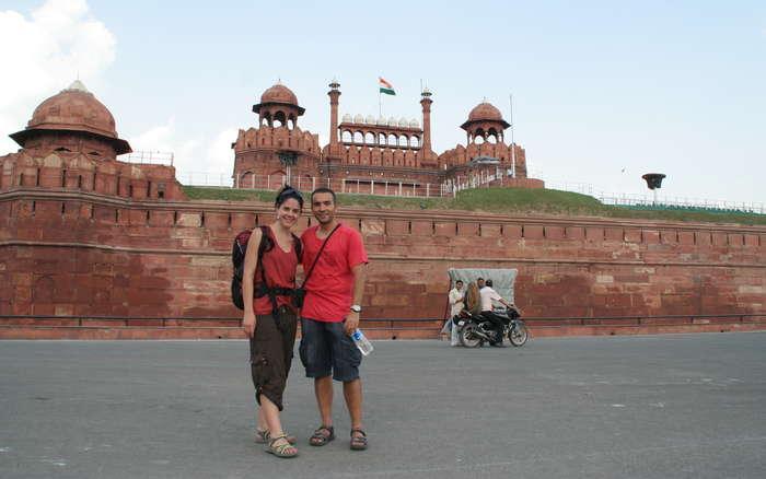 Fuerte de Delhi desde fuera