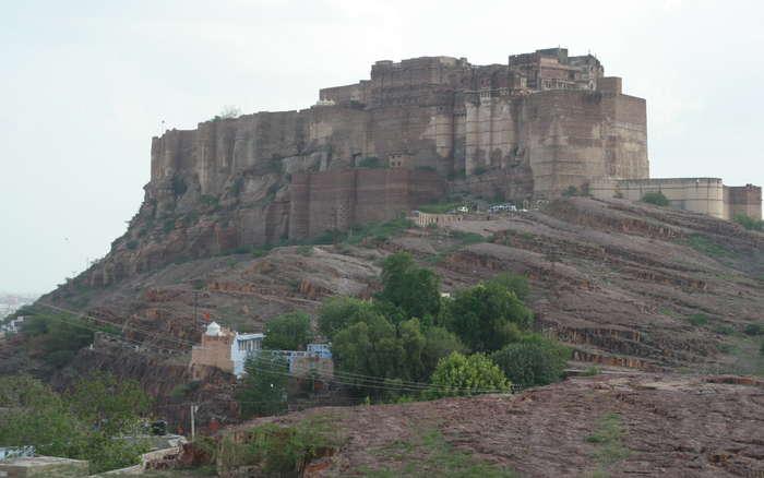Fuerte de Mehrangarh desde el exterior