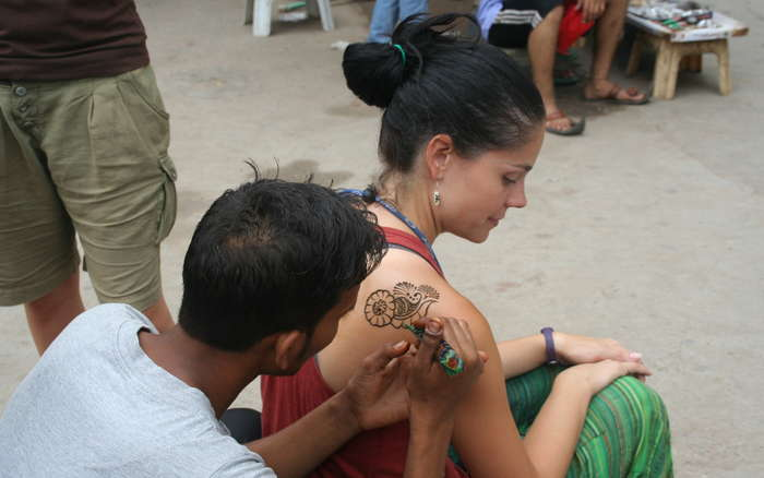 Tatuaje de henna de Patri