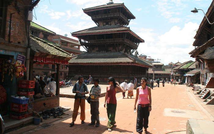 Una plaza de Bhaktapur