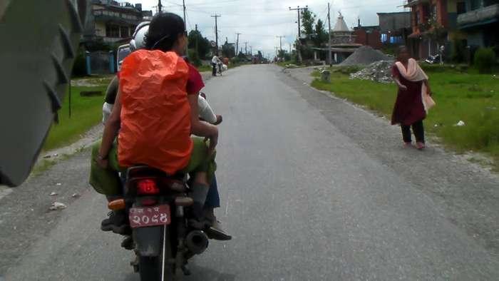 Volviendo en moto