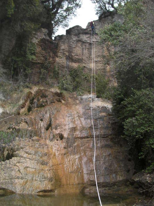 El rápel grande de 20 metros