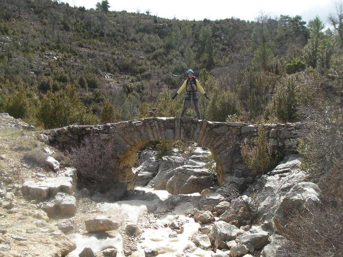En el puente romano de la cabecera del barranco