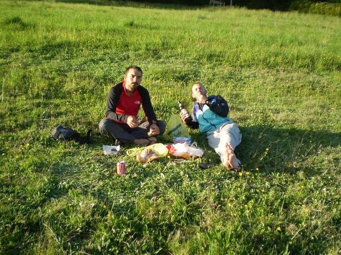 Cenando en Triacastela