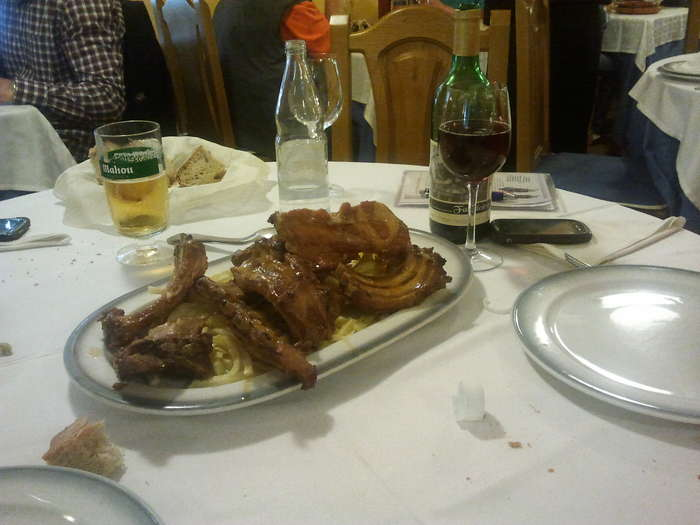 Comiendo en San Paio