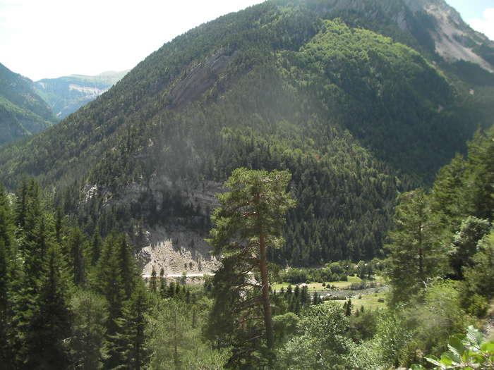 Vista del valle desde la cabecera de la gran rampa